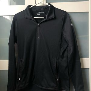 Black Nike quarter zip